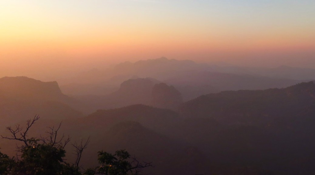 Panorama: sunset from Dhupgarh