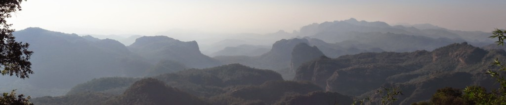 Panorama: sunset point from Dhupgarh