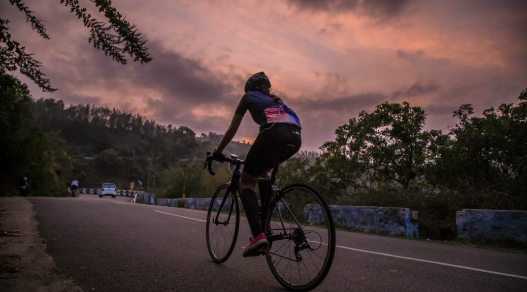 riding bicycle on the ghat